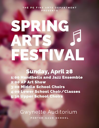 Spring Arts Festival is April 28