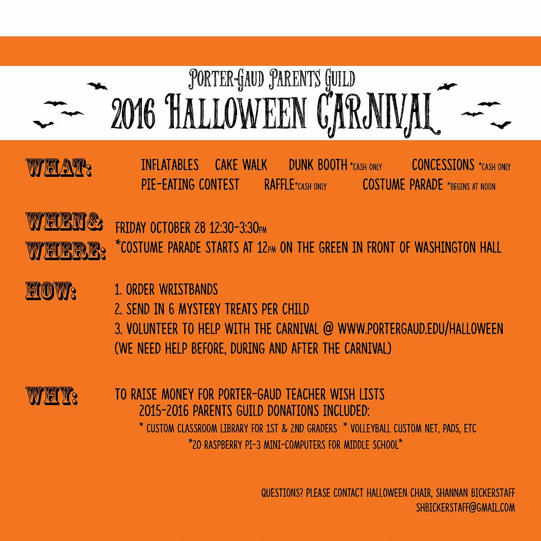 halloween carnival - porter gaud school